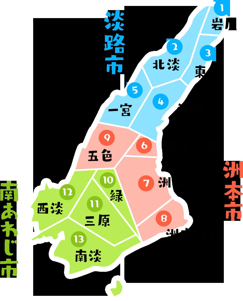 淡路島地図